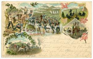 1901 DEUTSCHLAND Gruss vom manover ILLUSTRATED Postcard FP VG