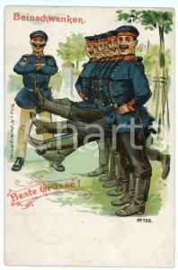 1906 GERMANY - SATIRE Soldier - Beinschwenken ILLUSTRATED Postcard FP VG