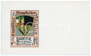 1920 ca MVSN - CAMICIE NERE - IV Legione Ferroviaria - Cartolina ILLUSTRATA FP