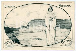 1915 ca BRIGATA MODENA - 41° Reggimento Fanteria - Cartolina ILLUSTRATA