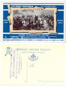 1919 REGIO ESERCITO 49° Reggimento Fanteria WW1 Guerra di rendenzione Cartolina
