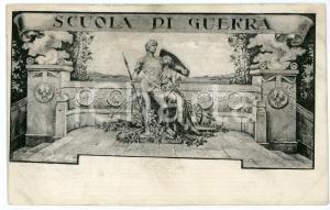 1920 ARTE Scuola di guerra - Cartolina ILLUSTRATA FP VG