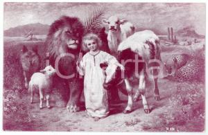 1915 ca WW1 Bambino Gesù - Assistenza ai bambini dei soldati - Cartolina FP NV