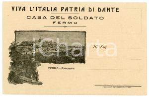 1915 ca FERMO - CASA DEL SOLDATO Panorama della città - Cartolina FP NV