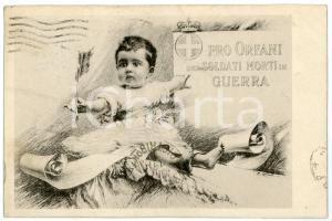 1916 WW1 - MILANO Comitato lombardo pro orfani dei militari caduti - Cartolina