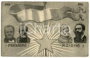 1861 -1911 UNITÀ D'ITALIA Pensiero e azione GARIBALDI - Cartolina ILLUSTRATA FP