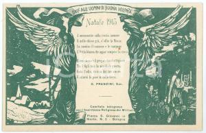 1915 BOLOGNA WW1 Assistenza religiosa militari - Poesia di G. PRANZINI Cartolina