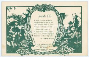 1915 WW1 BOLOGNA Assistenza religiosa militari - Poesia di G. PRANZINI Cartolina