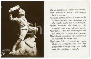 1915 ca WW1 - ALPINI Scultura di Emilio BISI - Cartolina FP NV