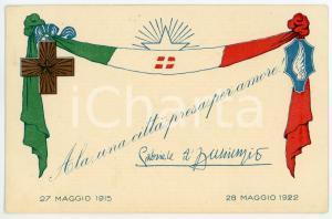 1922 ALA Una città presa per amore - Gabriele D'ANNUNZIO Cartolina ILLUSTRATA