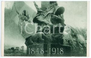 1918 UNITÀ D'ITALIA Artista Giovanni GROSSI - Cartolina ILLUSTRATA FP NV