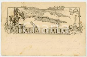 1916 WW1 ROMA Casa del soldato Associazione per Istruzione del Soldato Cartolina