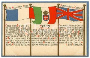 1915 ca WW1 Lega Nazionale delle Seminatrici di Coraggio - Cartolina ILLUSTRATA