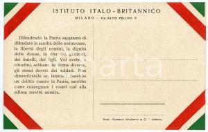 1915 ca WW1 - MILANO Istituto Italo-Britannico - Cartolina FP NV (2)
