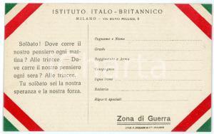 1915 ca WW1 - MILANO Istituto Italo-Britannico - Cartolina FP NV (1)