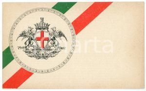 1915 PRO PATRIA GENOVA Cartolina augurale a Vittorio Emanuele III - FP NV