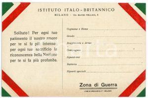 1915 ca WW1 - MILANO Istituto Italo-Britannico - Cartolina FP NV