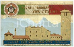 1915 WW1 - FELTRE Comitato Organizzazione Civile - Fuori i barbari - Cartolina