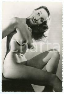 1950 ca VINTAGE EROTIC Nude woman wearing a necklace - Photo risque 10x15 cm