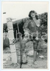 1995 Elmer BATTERS Woman outdoor - Postcard REPRODUCTION - EROTIC FETISH
