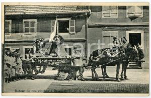 1920 BRUNSTATT (FRANCE) Retour de nos cloches enlévées - Carte postale ANIMEE