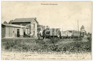 1907 GOUY - LE CATELET (PICARDIE, FRANCE) La Gare - Carte postale ANIMEE CPA