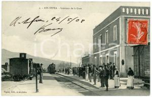 1908 AIN-SEFRA (ALGERIE) Intérieur de la Gare - Carte postale ANIMEE CPA