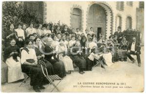 1914 WW1 FRANCE Guerre Européenne - Ouvrières faisant du tricot pour nos soldats
