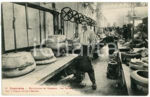 1913 ESPERAZA (FRANCE) Manufacture de chapeaux - Les Sableurs - Postcard