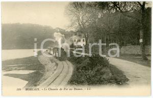 1910 ca MORLAIX (FRANCE) Le chemin de fer au Dossen - Carte postale CPA