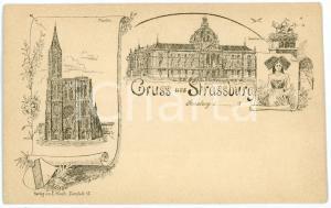 1900 ca STRASSBURG (F) Münster - Kaiserplatz -  Views *Old postcard