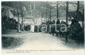 1905 ca FRANCE GRANDE CHARTREUSE Expulsion Pères Chartreux 1903 (5) Carte