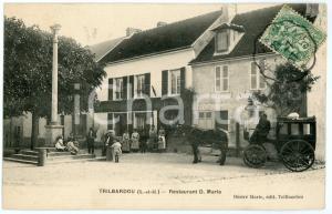 1905 ca TRILBARDOU (Seine-et-Marne) Restaurant D. MARIE - Carte postale ANIMEE