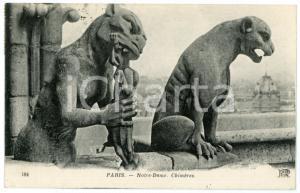 1910 ca PARIS Notre-Dame - Chimères - Carte postale CPA
