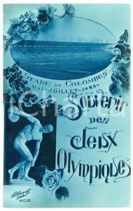 1924 PARIS Jeux Olympiques - Stade de Colombes - Carte postale BLEUET