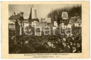 1911 BAR-SUR-AUBE (FRANCE) Manifestations viticoles - Discours au Kiosque