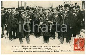 1911 TROYES Manifestation des Vignerons Champenois - Comité - Carte postale