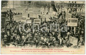1911 BAR-SUR-AUBE (FRANCE) Manifestations viticoles - Les vignerons jurent