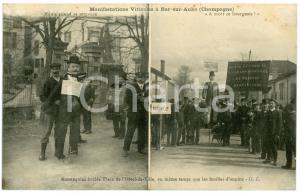 1911 BAR-SUR-AUBE (FRANCE) Manifestations viticoles - Mannequins brûlés