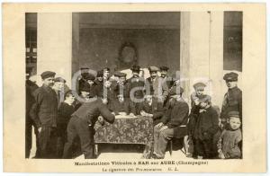 1911 BAR-SUR-AUBE (FRANCE) Manifestations viticoles - Signature protestataires