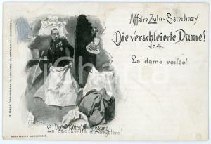 1905 ca FRANCE Affaire DREYFUS (ZOLA-ESTERHAZY) La dame voilée - Carte postale 4