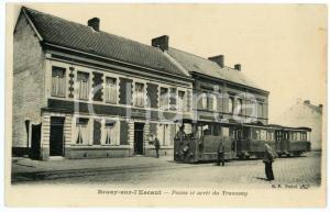 1900 ca BRUAY-SUR-L'ESCAUT (FRANCE) Postes et  arrêt du tramway - Carte postale
