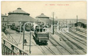 1900 ca NANCY (FRANCE) Vue sur la gare - Carte postale ANIMEE CPA