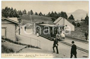 1910 ca AIX-LES-BAINS Sommet du Mont REVARD - Départ d'un train *Postcard