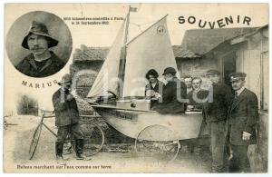 1922 PARIS MARIUS - Bateau marchant sur l'eau comme sur terre - Carte postale