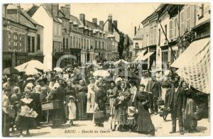 1910 ca BROU (FRANCE) Marché du Beurre - Carte postale ANIMEE CPA