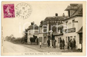 1934 SAINT-DENIS-DES-MONTS (NORMANDIE) Route Nationale - Carte postale ANIMEE