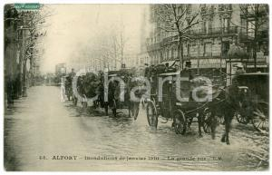 1910 MAISONS-ALFORT Inondations - La grande rue - DAMAGED old postcard
