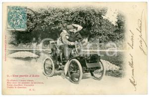 1900 ca FRANCE AUTOMOBILES Une partie d'auto - Couple - Carte postale n° 2