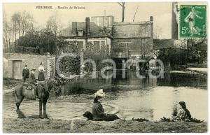 1913 PERONNE (FRANCE) Moulin de BELZAISE - Carte postale ANIMEE CPA